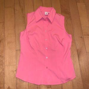 Apt. 9 pink button down tank blouse